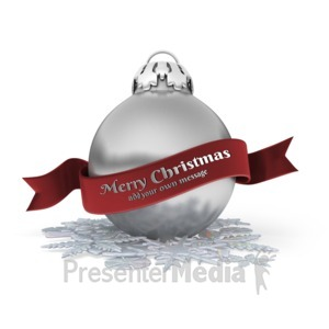 ID# 15957 - Christmas Ornament Banner - Presentation Clipart