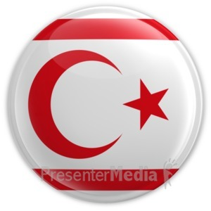 ID# 16002 - Northern Cyprus Badge - Presentation Clipart
