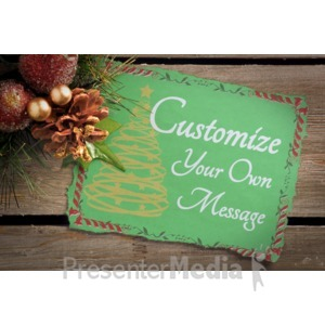 ID# 16015 - Garland Note Custom - Presentation Clipart