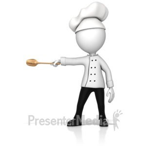 ID# 16143 - Chef Gesturing To The Side - Presentation Clipart