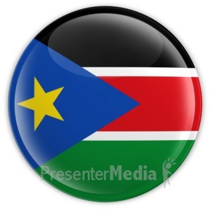 ID# 16182 - South Sudan Badge - Presentation Clipart