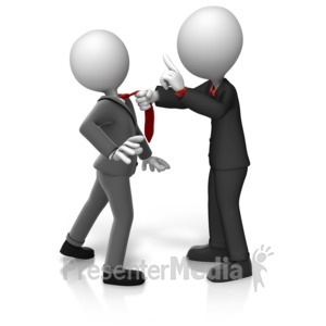 ID# 16216 - Grabbing Worker By Tie - Presentation Clipart