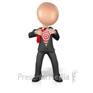 ID# 16223 - Figure Open Chest Target - Presentation Clipart