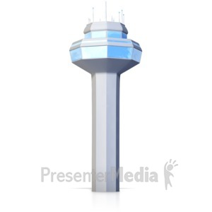 ID# 16230 - Ground Control Tower - Presentation Clipart