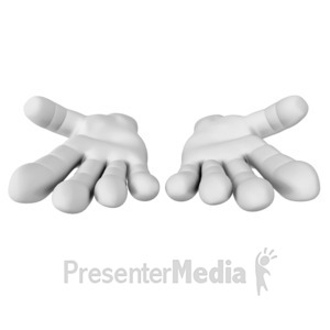 ID# 16231 - Hands Reached Out - Presentation Clipart