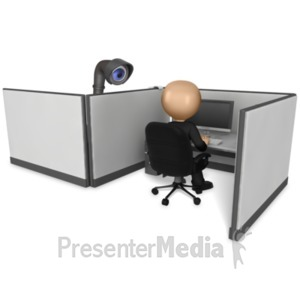 ID# 16243 - Spying On Coworkers - Presentation Clipart