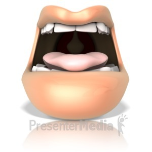ID# 16286 - An Open Mouth Ready to Taste - Presentation Clipart