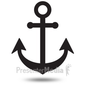 ID# 16330 - Anchor Simple Outline - Presentation Clipart