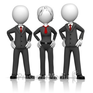 ID# 16352 - Three Business Executives - Presentation Clipart