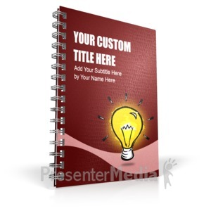 ID# 16374 - Single Binder - Presentation Clipart