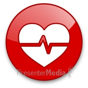 ID# 16604 - Heartbeat Wave Button - Presentation Clipart
