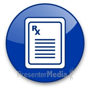ID# 16607 - Prescription Pad with Rx Symbol Button - Presentation Clipart