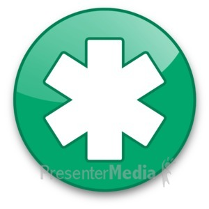 ID# 16616 - Star of Life Button - Presentation Clipart