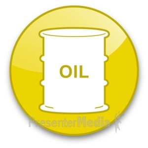 ID# 16650 - Oil Barrel Button - Presentation Clipart