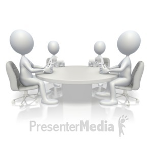 ID# 16671 - Conference Meeting - Presentation Clipart