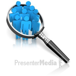 ID# 16674 - Magnified Group of Figures - Presentation Clipart