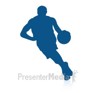 ID# 16720 - Basketball Dribble - Presentation Clipart