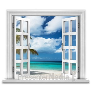 ID# 16724 - Open Window To Ocean Paradise - Presentation Clipart