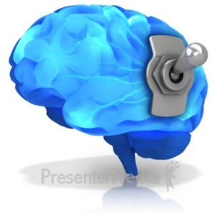 ID# 16745 - Brain Switched On - Presentation Clipart