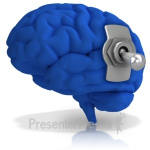 ID# 16746 - Brain Switched Off - Presentation Clipart
