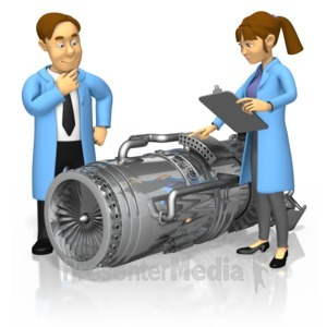 ID# 16759 - Engineers Turbine Engine - Presentation Clipart
