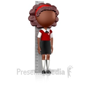 ID# 16786 - Girl School Child Measuring Up - Presentation Clipart