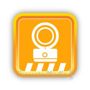 ID# 16813 - Construction Safety Light - Presentation Clipart