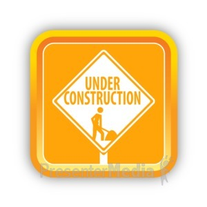 ID# 16817 - Construction Sign - Presentation Clipart