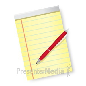 ID# 16821 - Pen and Paper - Presentation Clipart