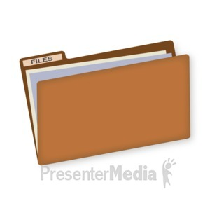 ID# 16827 - File Folder - Presentation Clipart