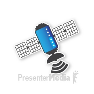ID# 16836 - Satellite One - Presentation Clipart