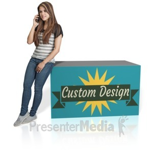 ID# 16912 - Young Girl Lean Custom - Presentation Clipart