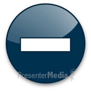 ID# 16964 - Minus Sign Button - Presentation Clipart