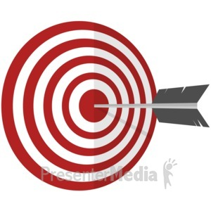 ID# 17025 - On Target - Presentation Clipart