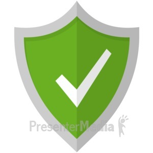 ID# 17027 - Check Mark Shield - Presentation Clipart