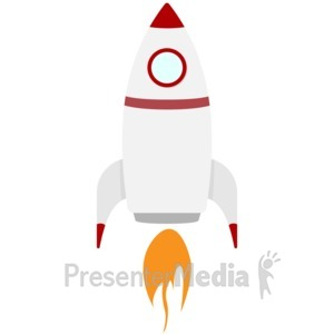ID# 17030 - Rocket Ship - Presentation Clipart