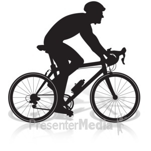 ID# 17036 - Bicycle Man Riding - Presentation Clipart