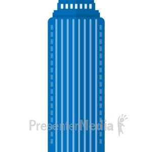 ID# 17067 - City High Rise Building - Presentation Clipart