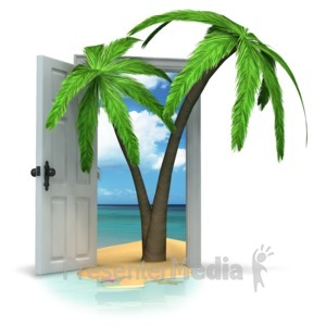 ID# 17079 - Door To Paradise - Presentation Clipart