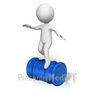 ID# 17082 - Figure Balance Act Barrel - Presentation Clipart