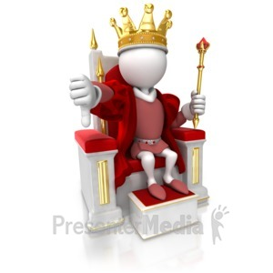 ID# 17099 - King Give Thumbs Down - Presentation Clipart