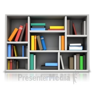 ID# 17112 - Book Compartment Shelving - Presentation Clipart