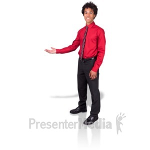 ID# 17169 - Young Man Gesture Side - Presentation Clipart