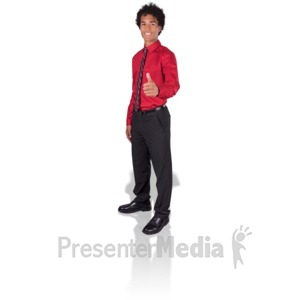 ID# 17175 - Young Man Thumbs Up - Presentation Clipart