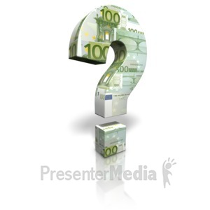 ID# 17251 - Euro Money Question Mark - Presentation Clipart