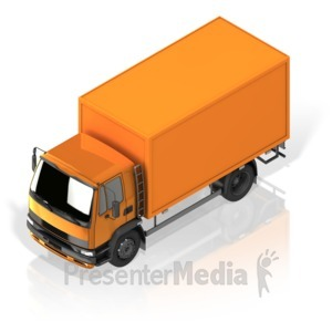 ID# 17277 - Delivery Truck - Presentation Clipart