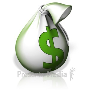 ID# 17288 - Money Bag - Presentation Clipart