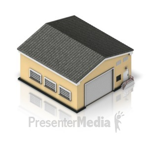 ID# 17308 - Warehouse Building - Presentation Clipart