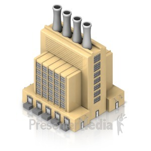 ID# 17309 - Factory Building - Presentation Clipart