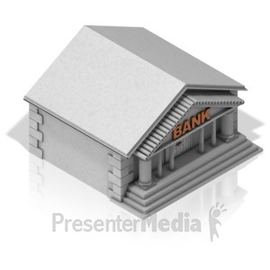 ID# 17314 - Bank Building - Presentation Clipart
